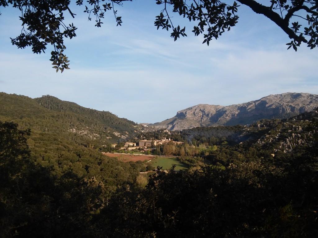 Blick auf das Kloster Lluc
