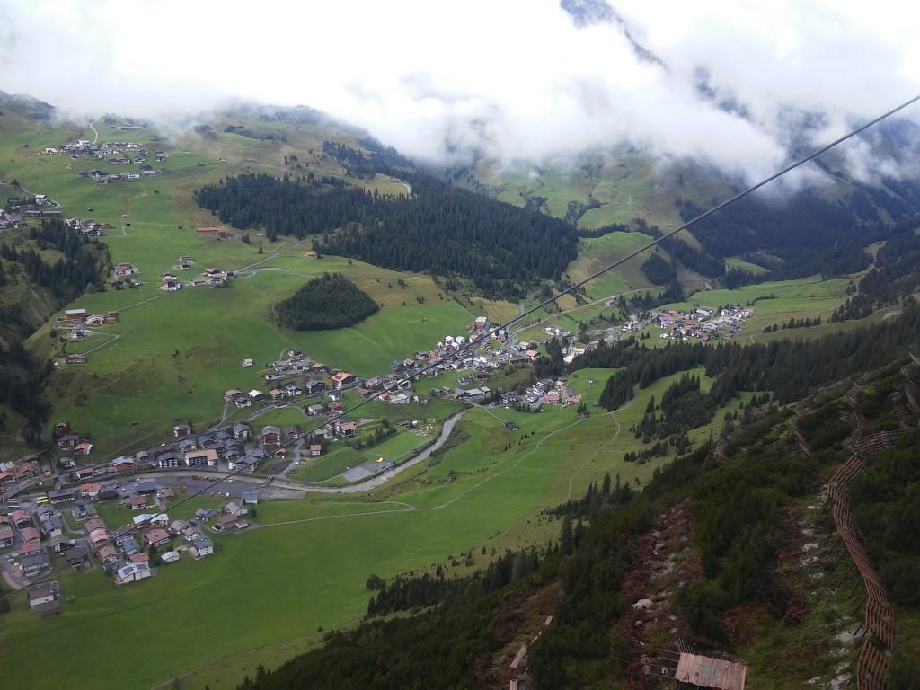 Noch wolkenfreier Blick auf Lech