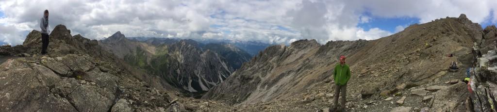 Panoramafoto auf der Muttekopfscharte