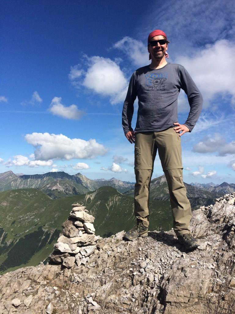 Der Wanderführer am Scharnitzsattel
