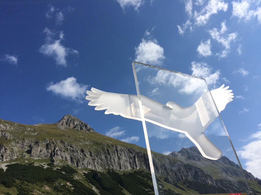 Das Symbol des Adlerweges