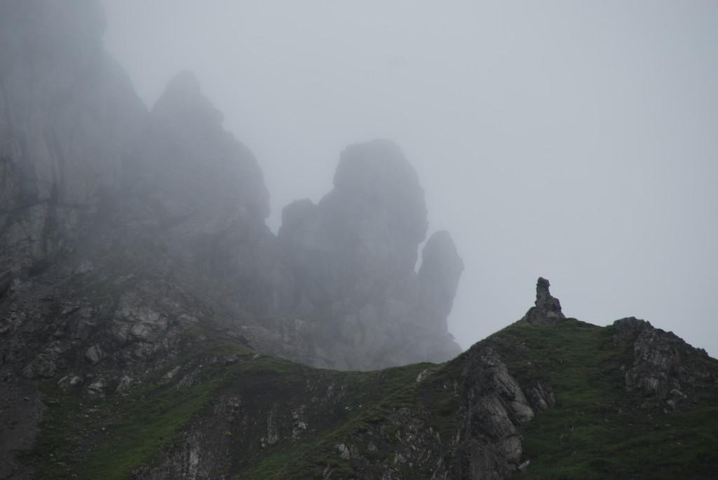 Gespenstische Felslandschaft