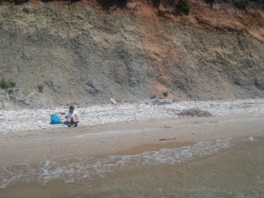 Einsamer Strand für die Mittagspause