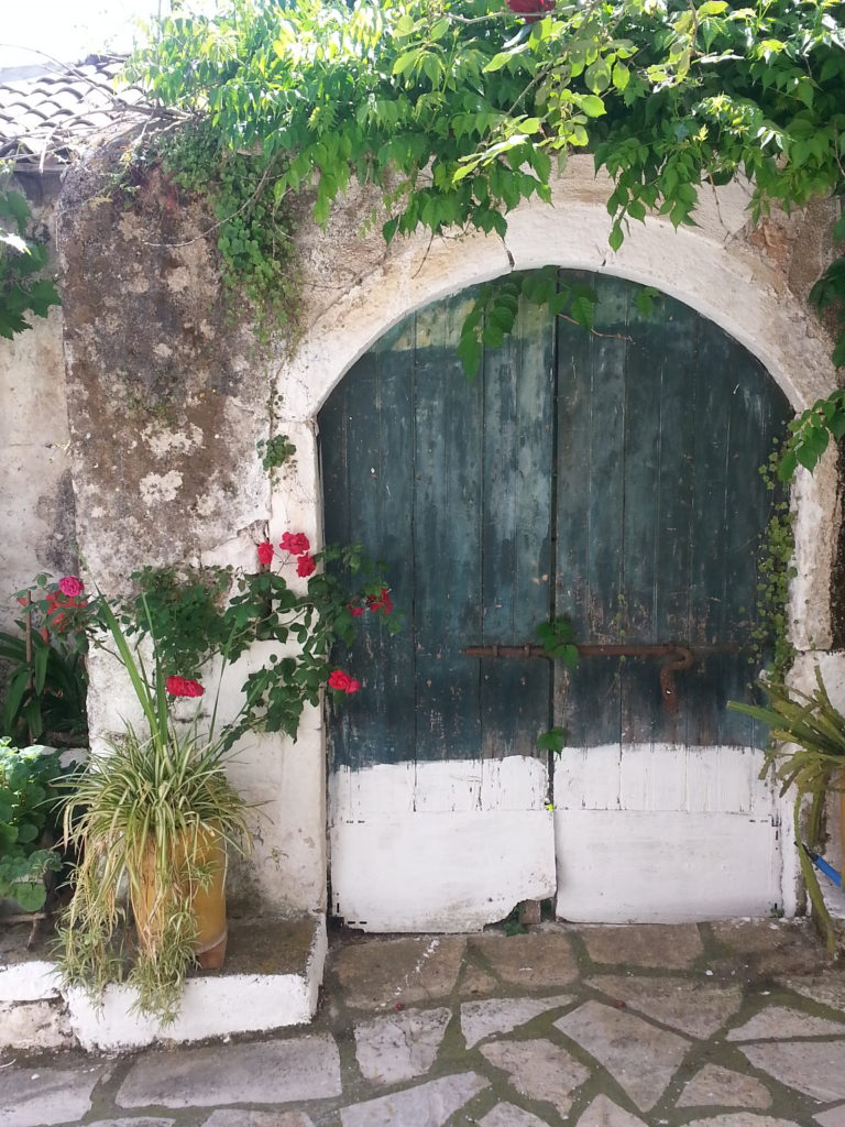 Hauseingang in Liapades