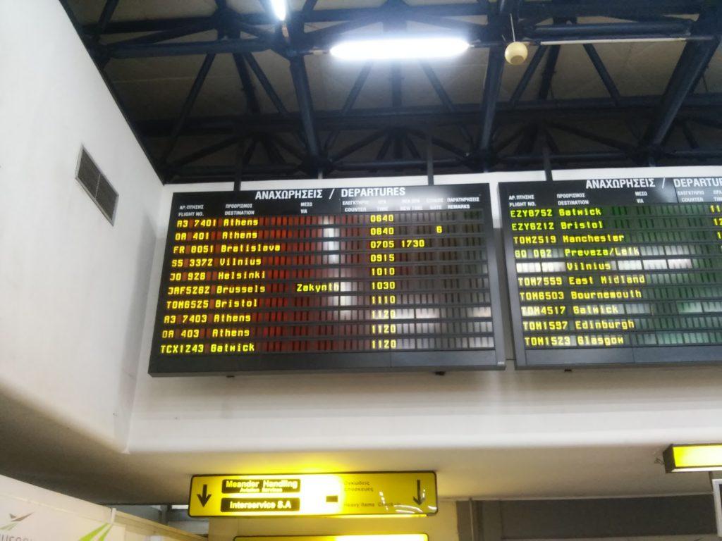 Heftige Flugverspätung