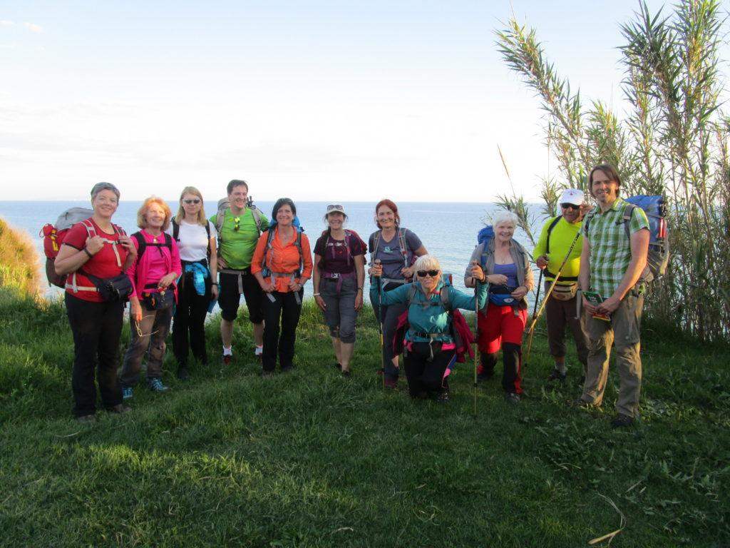 Erstes Gruppenfoto bei Santa Barbara