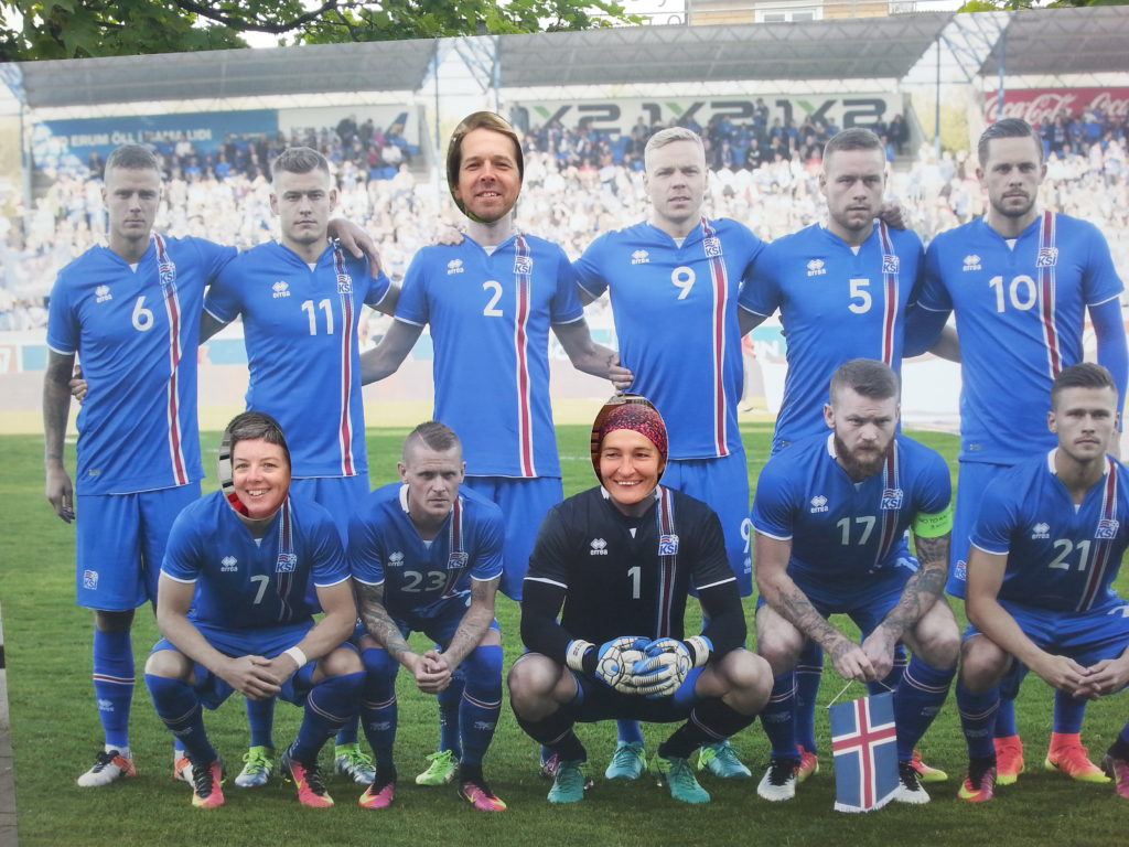 Das isländische EM-Team mit drei neuen Spielern