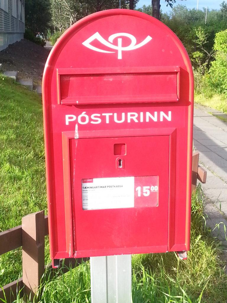 Postkasten in Reykjavik