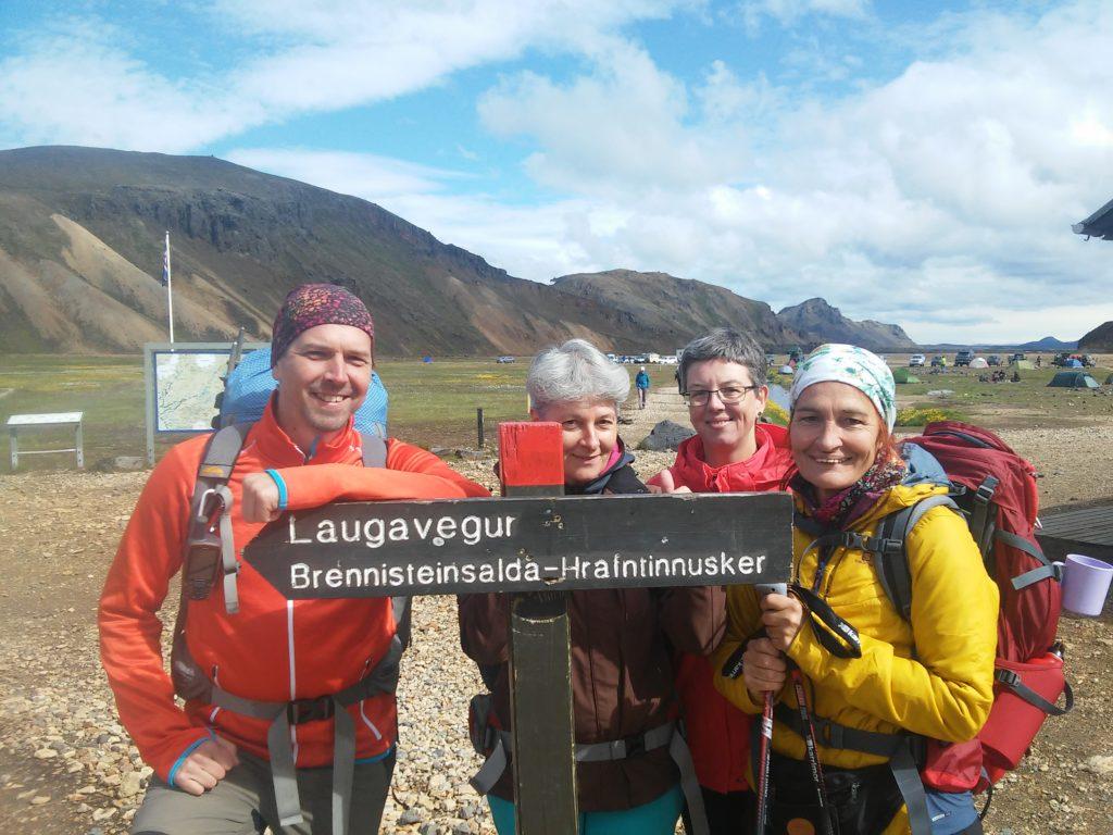 Ausgangspunkt des Laugavegur in Landmannalaugar