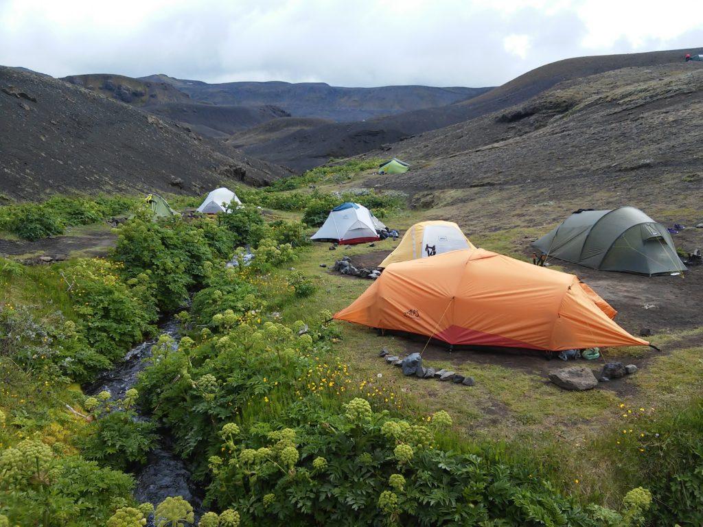 Campingplatz in der Oase von Botnar