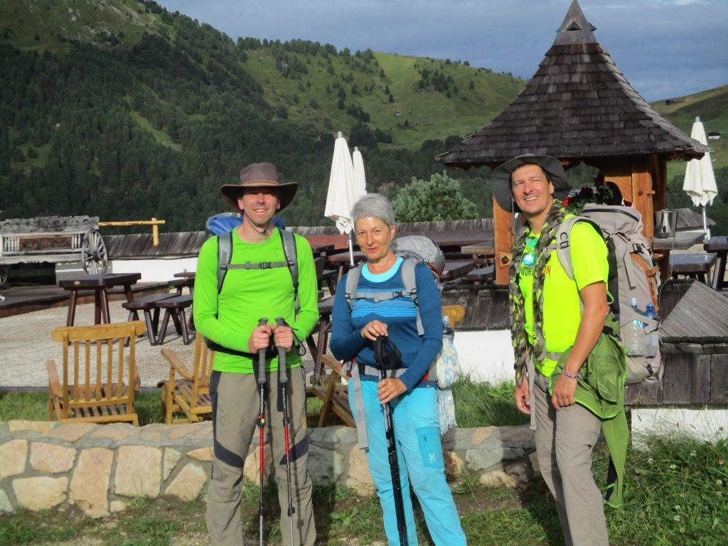 Katharina, Heinz und ich am Col Raiser